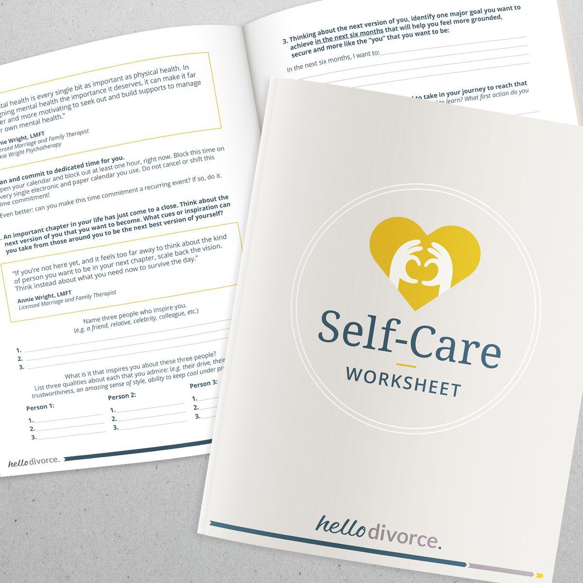Worksheet Designing A Self Care Plan For A Divorce