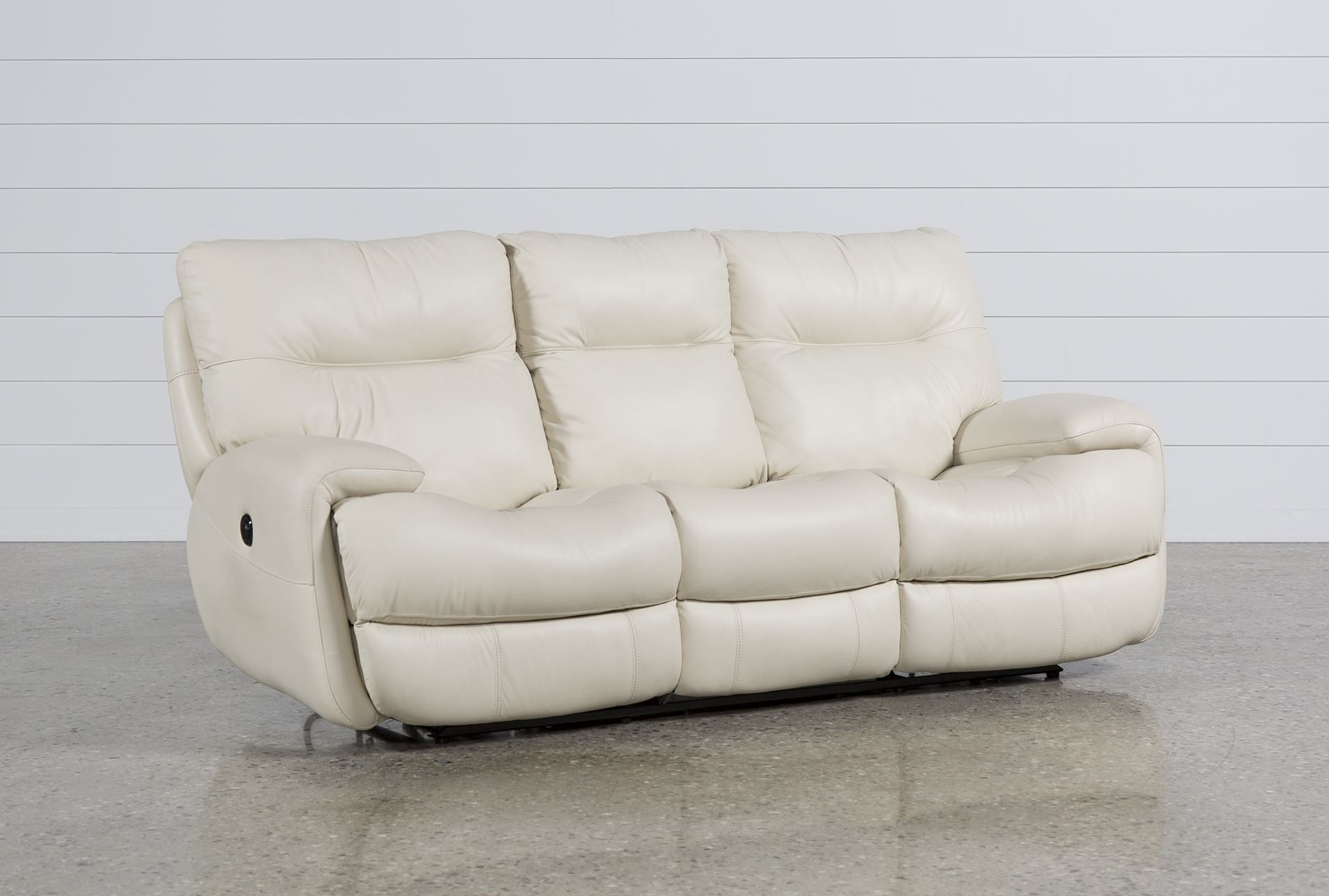 Oliver Ivory Leather Power Reclining Sofa