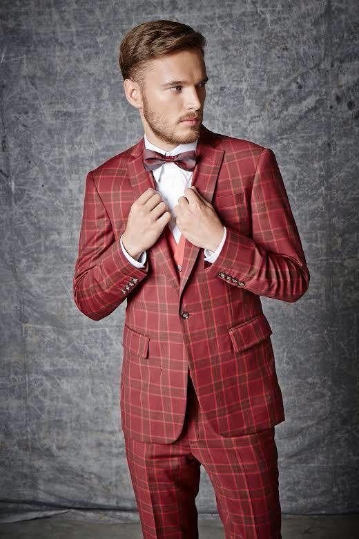 ITailor Red Check Suit | SUITS & SHOES | Men's tuxedo styles