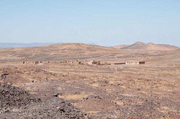 Village dans le désert