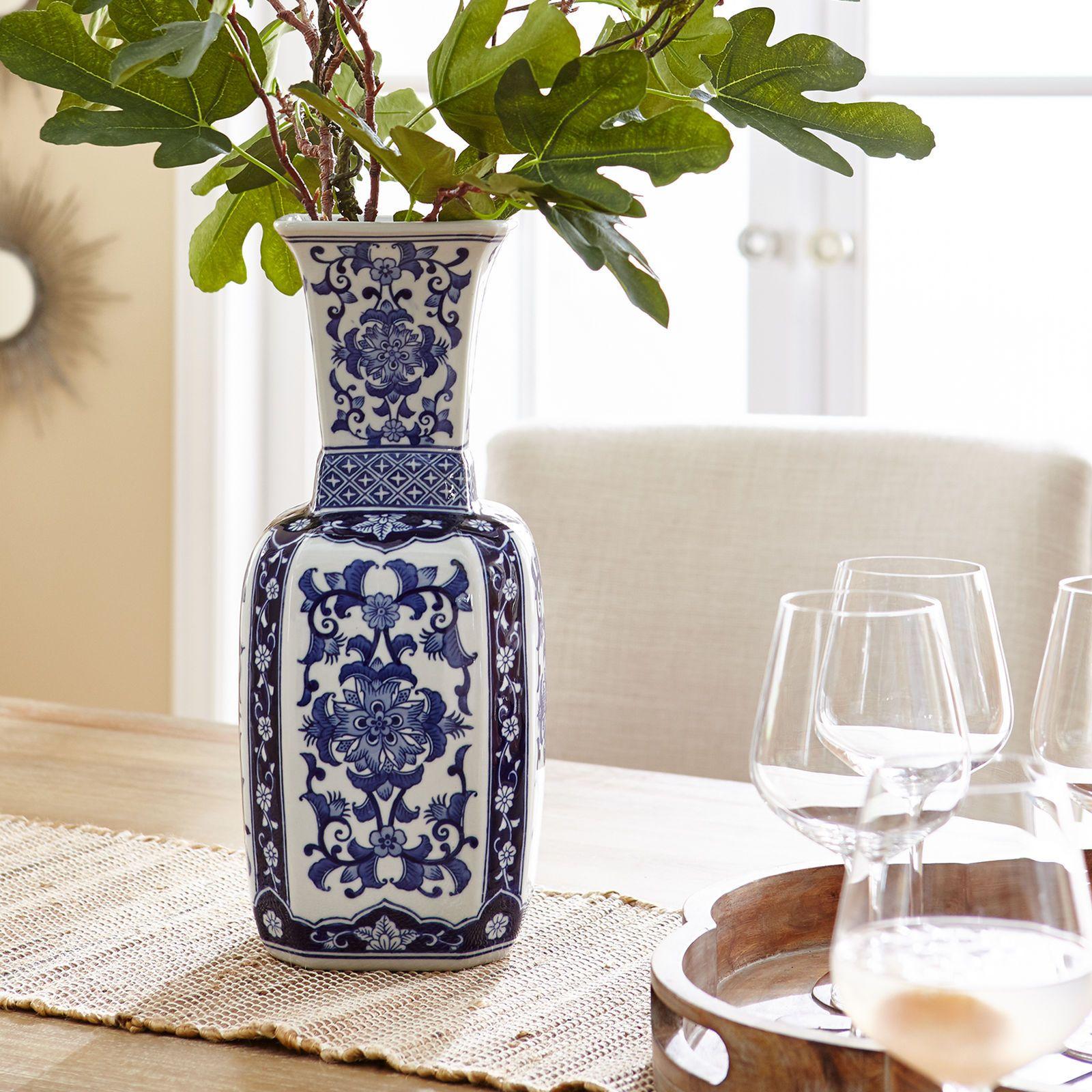 Blue White Ceramic Vase Blue And White Vase Ceramic Vase White Ceramic Vases
