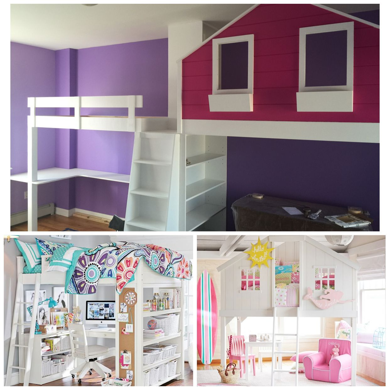 AND THE WINNER IS.....Having chosen two beds they both loved (bottom images) and considering the shape of their room - KidKlass Spokeskids Wiyot & Stoney made this Compromise - a single unit with two separate spaces separated by floor to ceiling book cases now everyone has a space they love and Wiyot has a fire pole exit even though she wanted to fit in a slide...thoughtfully designed by Igor Videgain, Videgain Designs., Brooklyn NY.