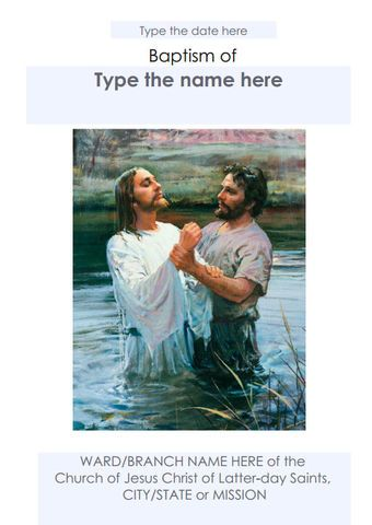 Mormon Share } Jenny\'s LDS Baptism Program Template | Ideas para ...