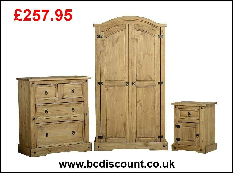The Corona Mexican Pine Bedroom Set Consists Of An All Hanging Wardrobe With In Solid Wood Bedroom Furniture Wood Bedroom Furniture Sets Wood Bedroom Furniture