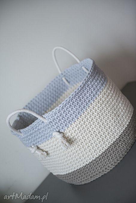 Ciekawe Kosze Hand Made Kosz Z Uszami By Monica Baby Shoes Diy And Crafts Crafts