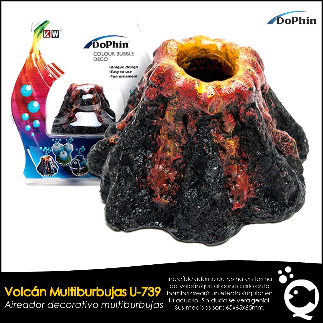 Volcán Multiburbujas U-739 DoPhin. De venta en Aquatic Shop Acuario.