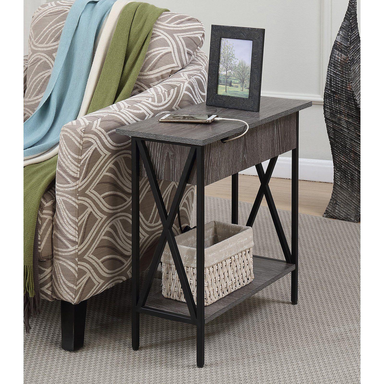 Convenience Concepts Tucson Electric Flip Top End Table Flip Top Table End Tables Unique End Tables