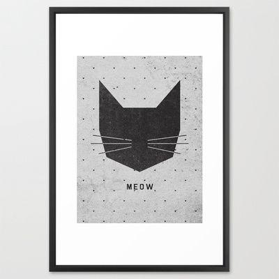 MEOW Framed Art Print $126