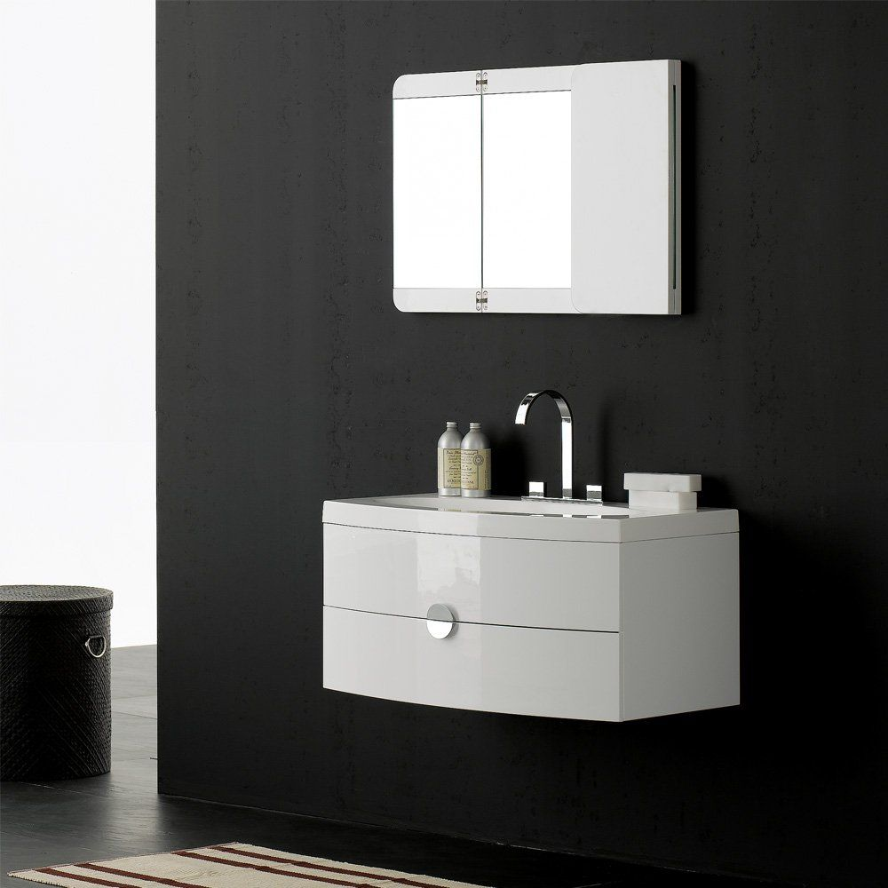 Lusso Stone Vanessa Wall Mounted Designer Bathroom Vanity Unit 920 | Vanity  Units