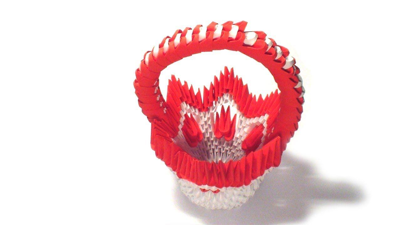 3d origami flower basket tutorial 3d origami pinterest