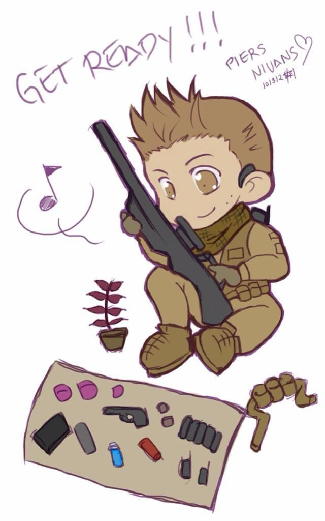 #ResidentEvil I found Piers in chibi version. It's just an overload of cuteness. Didn't know it was possible!