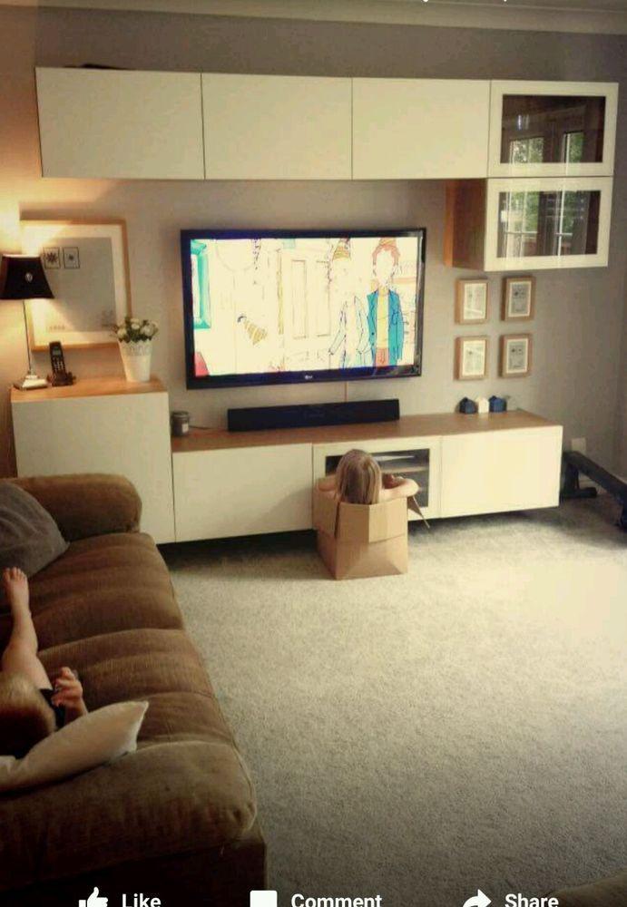 furniture cabinets living room 3 piece sofa set ikea besta in home diy cupboards ebay