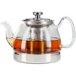 Stove Top Glass Teapot With Infuser 30 Oz Induction Tea Pots