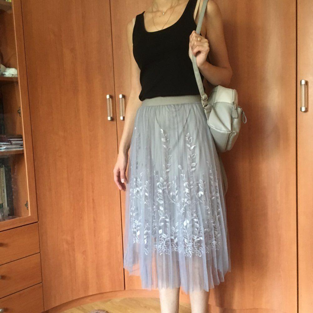 66dafc4c1 Tienda Online Alta calidad elegante tul largo Falda plisada mujeres ...