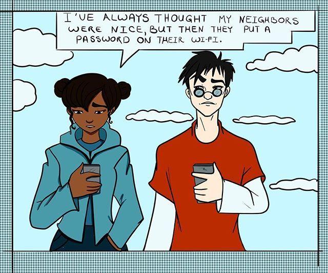 Not The Wi Fi Password Comics Funny Girl Boys Neighbors