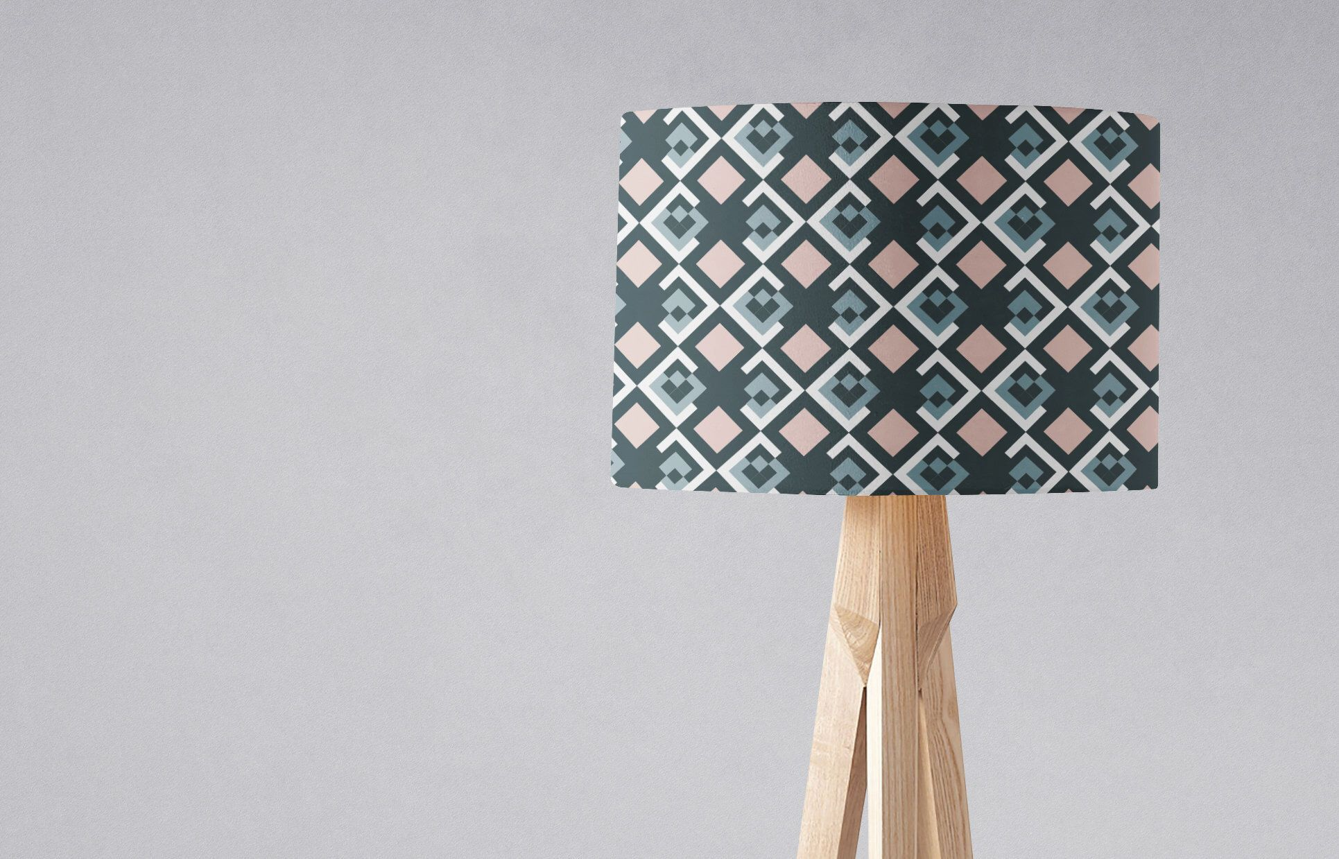 Navy Blue And Pink Lampshade Geometric Lampshade Modern Etsy Geometric Lampshade Navy Blue Lamp Shade Blue Lamp Shade