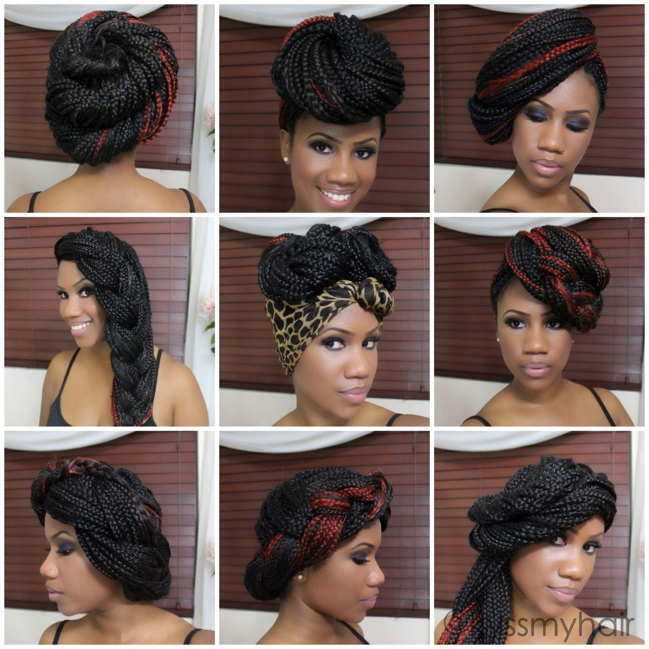 i love box braids !!!!!! diffrent type of styles   creavity