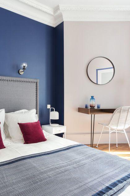 mettre de la couleur dans une chambre d 39 adulte chambres pinterest chambre chambre bleu et. Black Bedroom Furniture Sets. Home Design Ideas