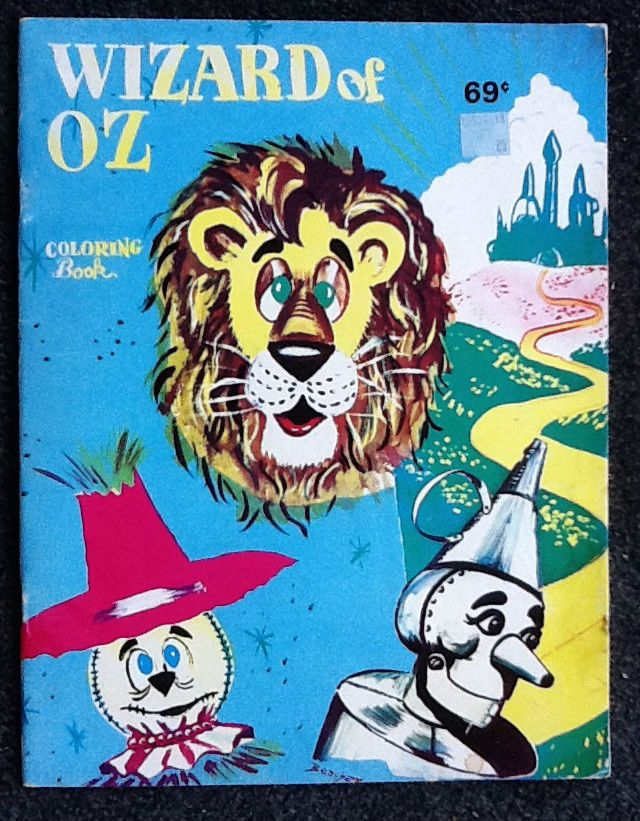 Wizard Of Oz Coloring Book 1988 Landoll Unused Frank L Baum Free Shipping Childrens Colouring Book Vintage Coloring Books Coloring Books