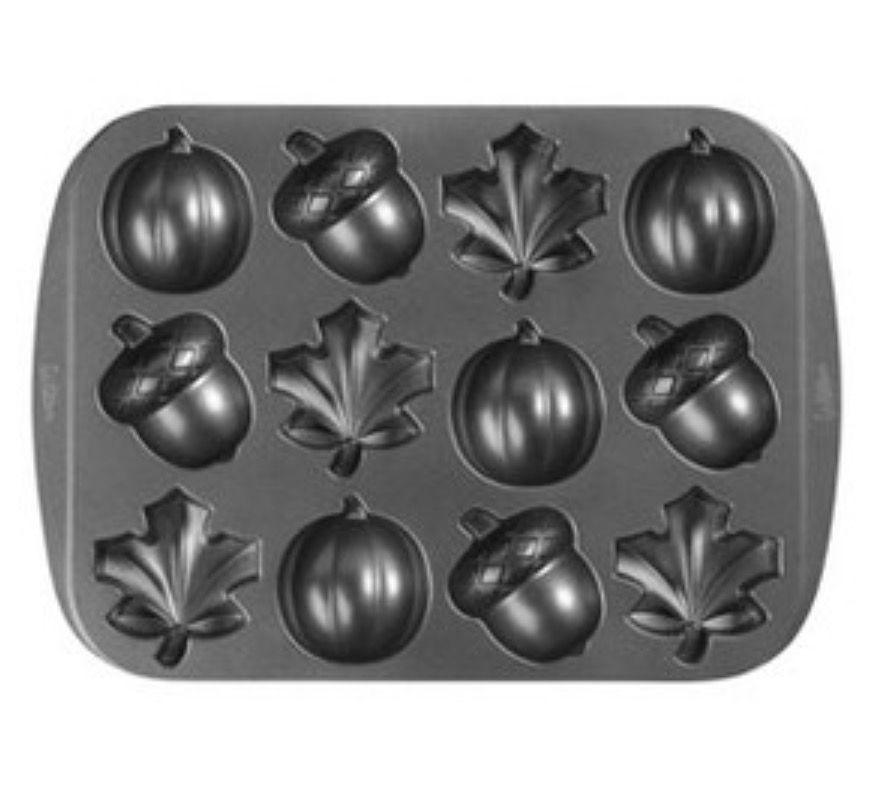 Fall metal cake pan mini bites mini cake pans wilton
