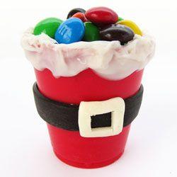 100% edible Santa suit candy cups.