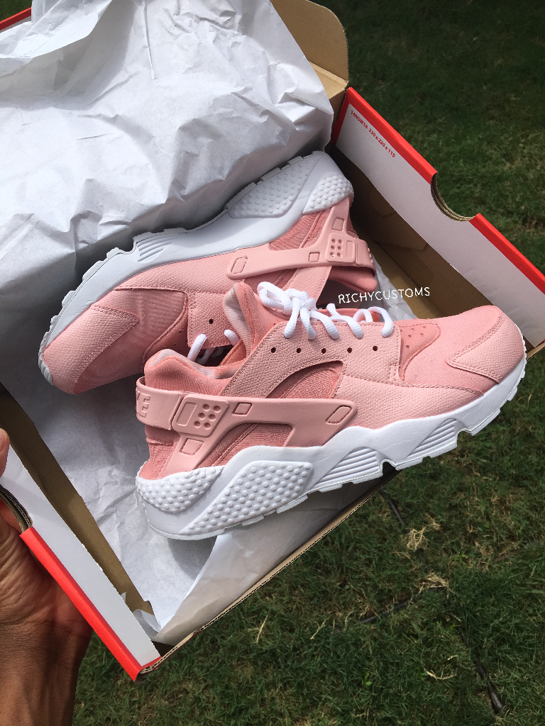 Image of SOLID Custom Light Pink Huaraches  White Sole is part of Sneakers -
