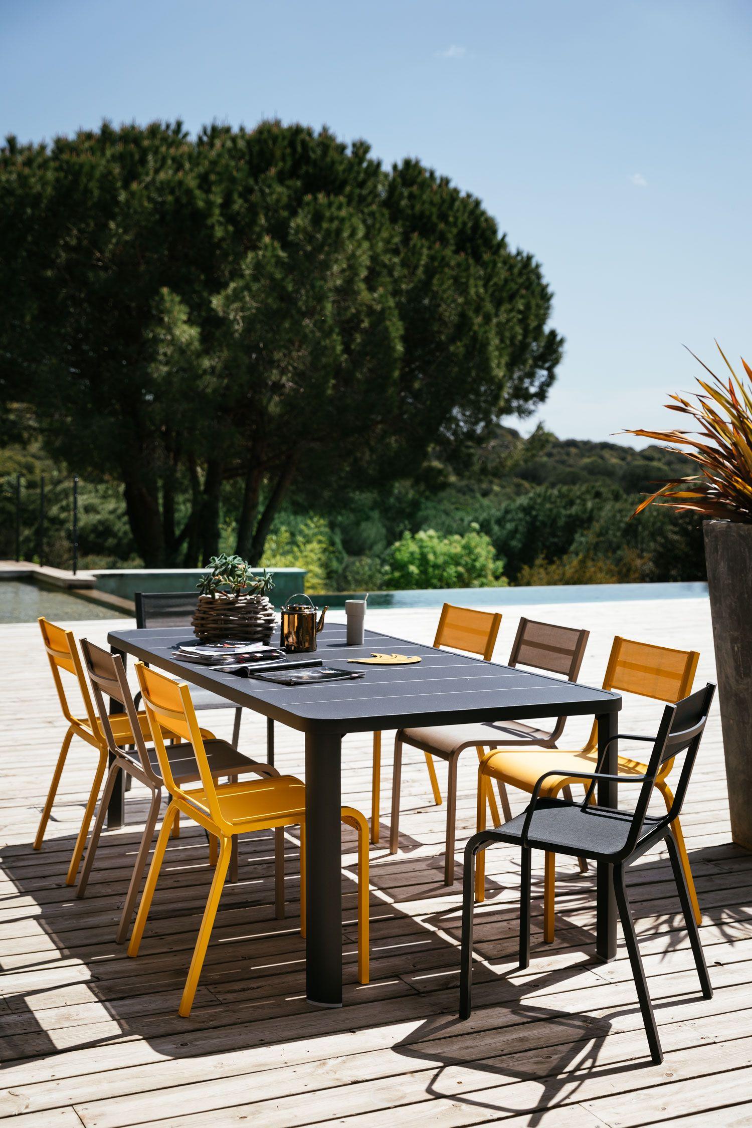 Collection Oléron Fermob mobilier de jardin en toile