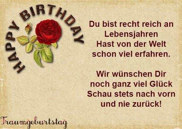 Geburtstagswünsche 85