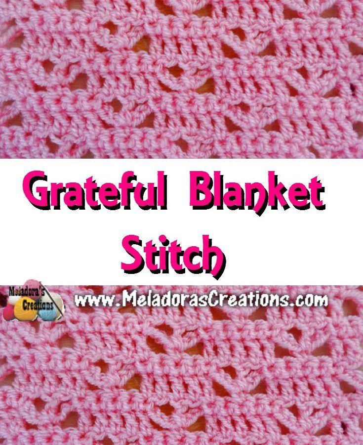 Graceful Blanket Stitch PINTEREST | Crochet Stitches #4 | Pinterest ...