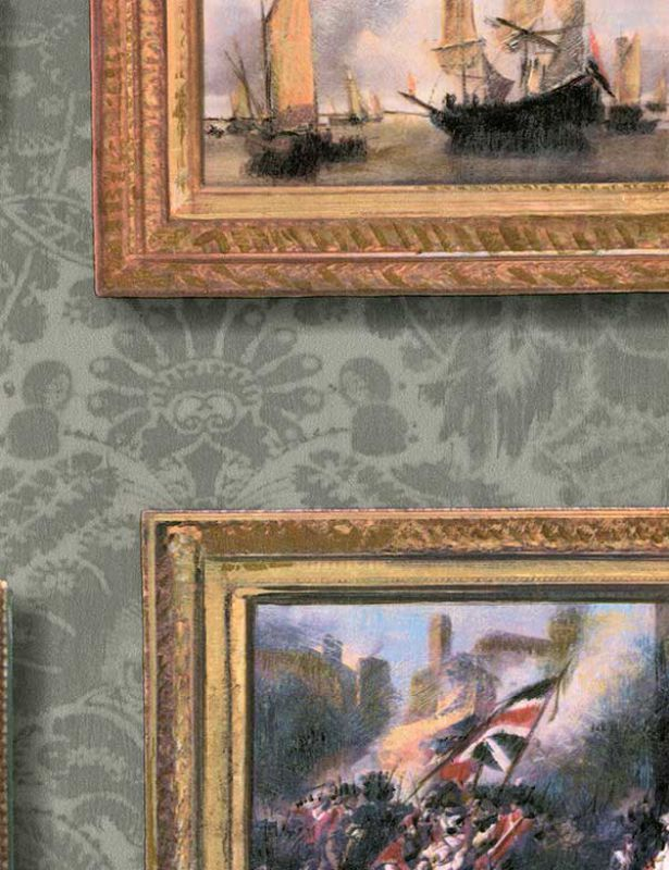 Wallpapers: Collection Museum, wallpaper Gallery Charcoal #Andrew Martin. Papeles pintados. Colección Museum. Papel pintado Gallery Charcoal
