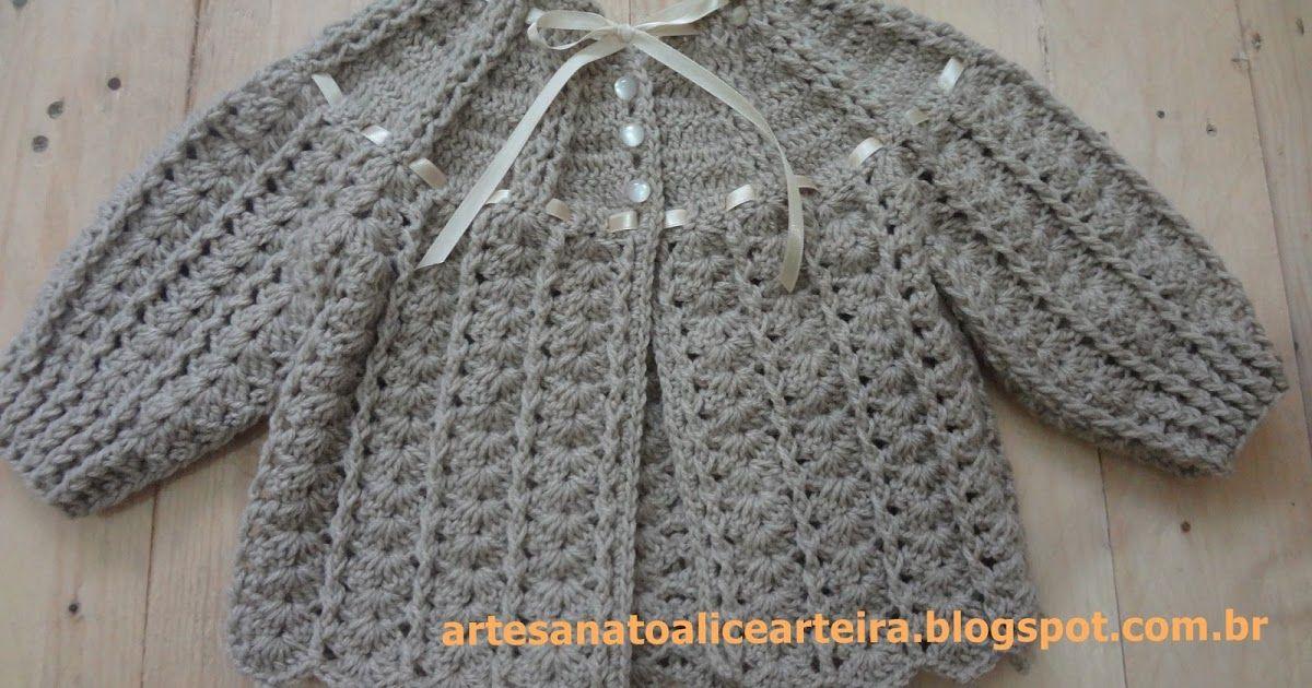 Blog de artesanato em crochê e tricô com gráficos, passo a passo ...