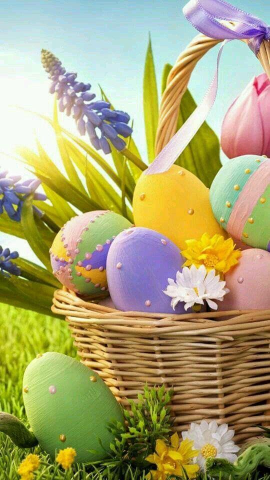 Easter Basket Easter wallpaper, Happy easter wallpaper