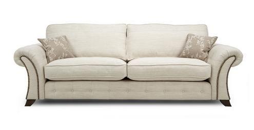 Woodland 4 Seater Formal Back Sofa Akasha Plain | DFS