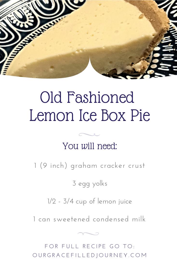 Old Fashioned No-Bake Lemon Ice Box Pie.  Only 4 ingredients!  #dessert #pie #recipes #lemonpie