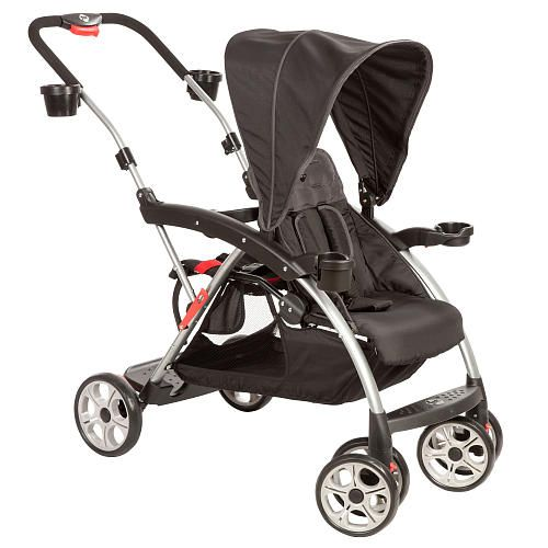 Safety 1st Stand onBoard Double Stroller - Classic Black Baby - double first