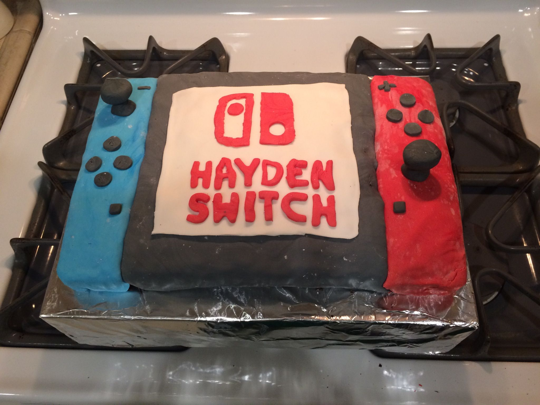 Swell Nintendo Switch Birthday Cake Nintendo Switch Birthday Cake Personalised Birthday Cards Veneteletsinfo