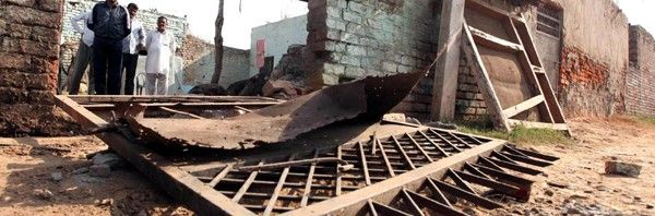 A Badly Damaged House In Pak Shelling At Abdullian In R S Pura