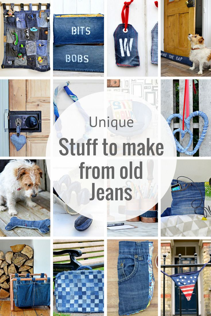 How To Make A Cool Denim Rug Without Sewing | Repurposed, Unique and ...