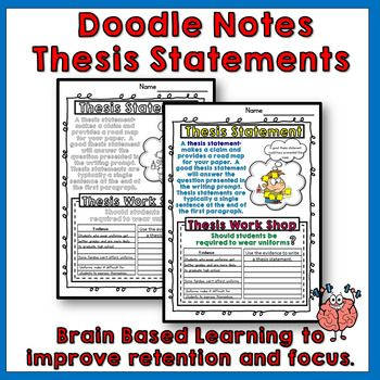 Doodle Notes Thesis Statements  Students And Literacy