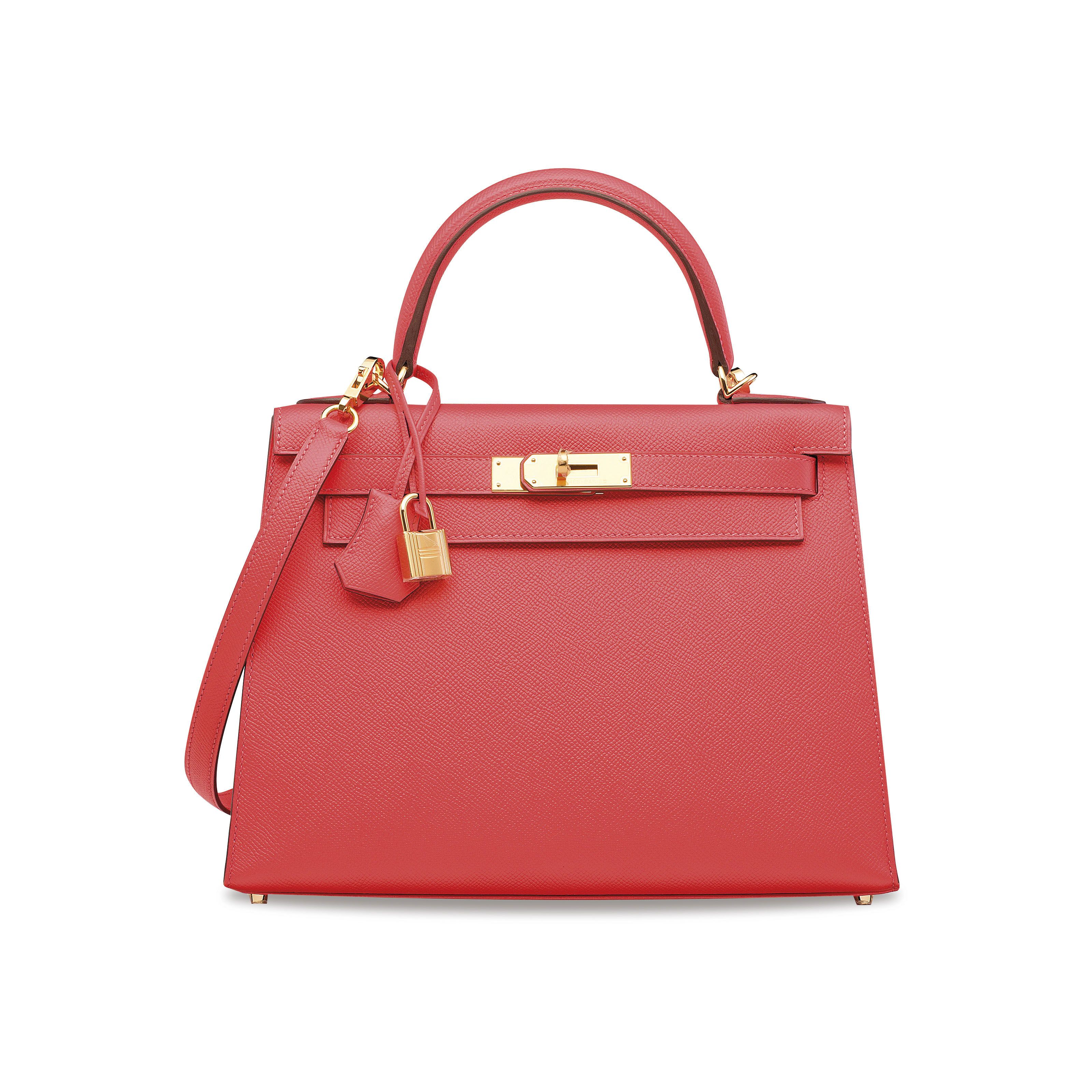 093a21b3da12 A ROSE JAÏPUR EPSOM LEATHER SELLIER KELLY 28 WITH GOLD HARDWARE Hermes Kelly