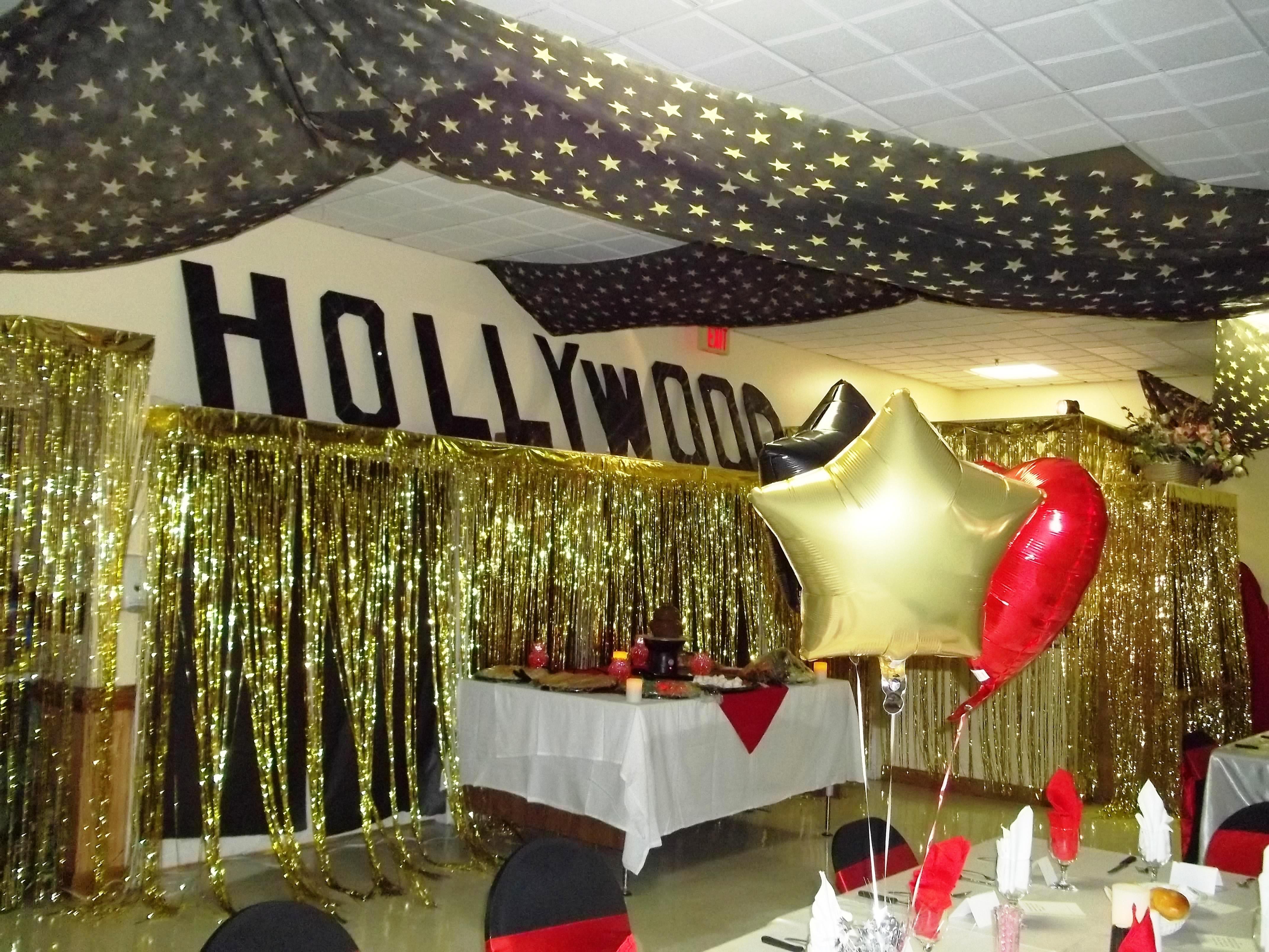 maybe do the entrance Hollywood glitz