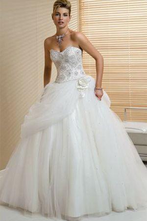 Huge Strapless Wedding Dresses