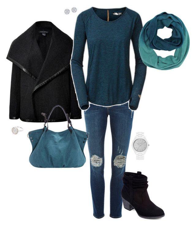 """Deep Blue"" by kimzakaryan on Polyvore featuring Ralph Lauren Black Label, Frame Denim, The North Face, Rocket Dog, MICHAEL Michael Kors, River Island, women's clothing, women's fashion, women and female"