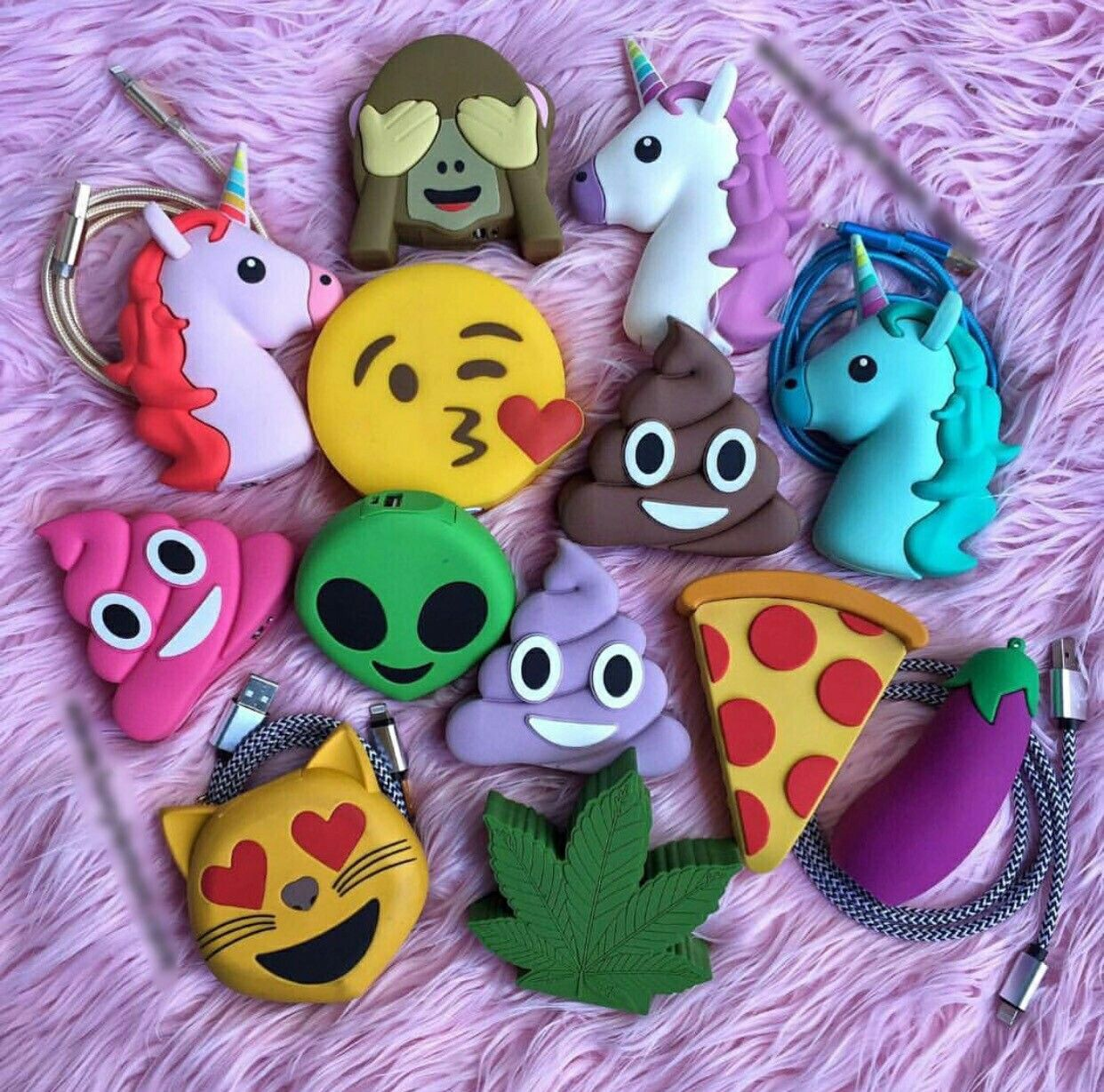 Fimo Licornes Caca Pizza Alien Emojii Feuille Fimo