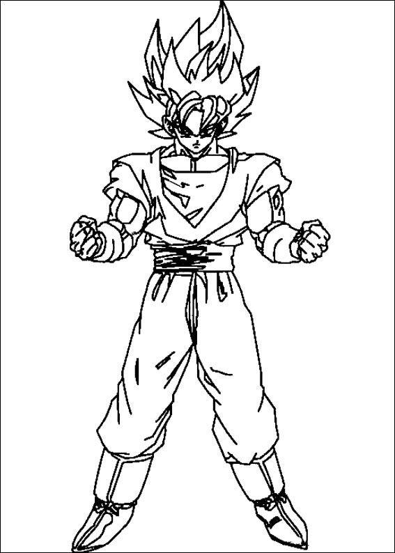 Dragon Ball Z Ausmalbilder. Malvorlagen Zeichnung druckbare nº 60 ...