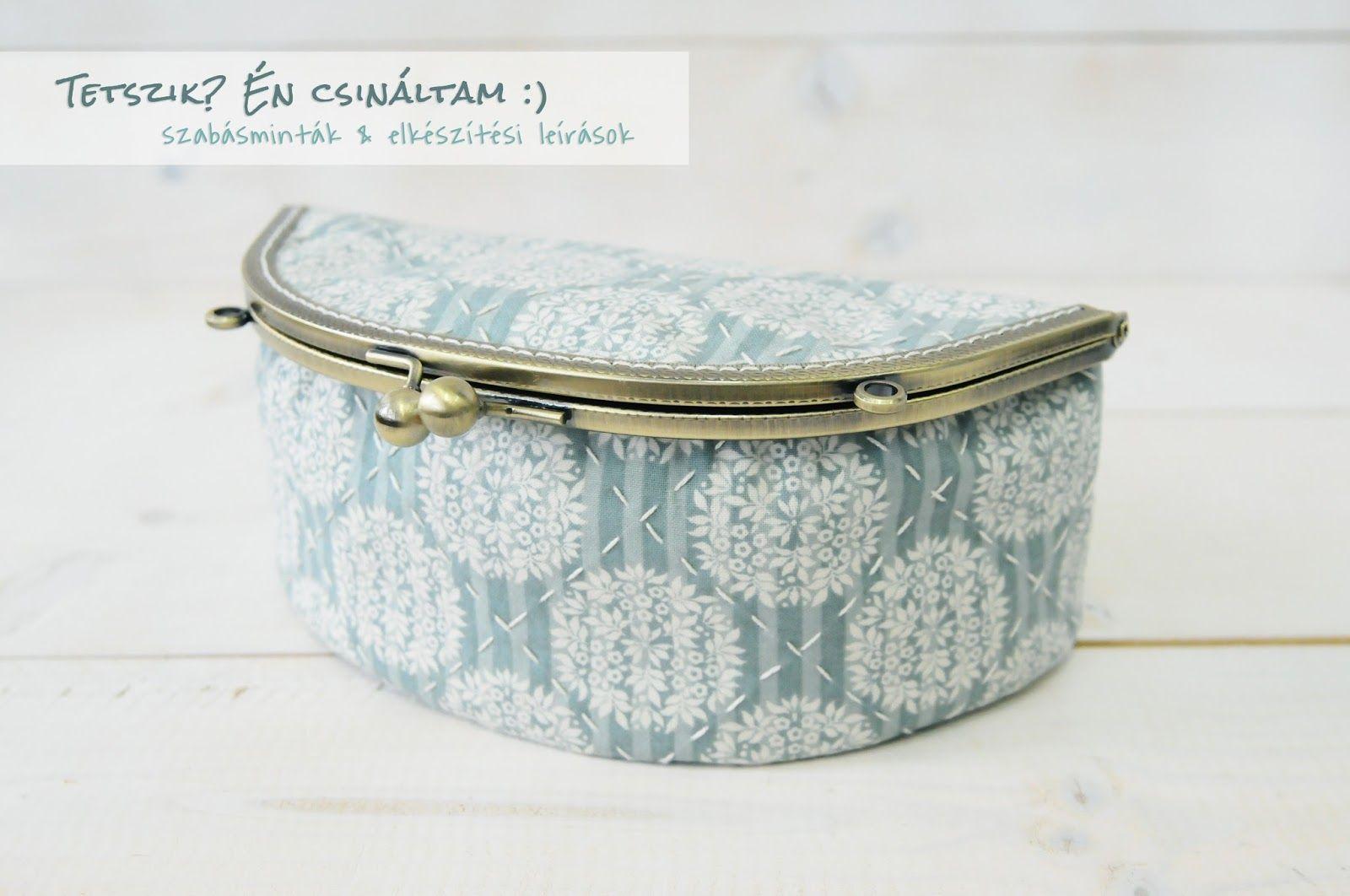 Cute big box with metal bag frame - FREE pattern & tutorial | Purses ...