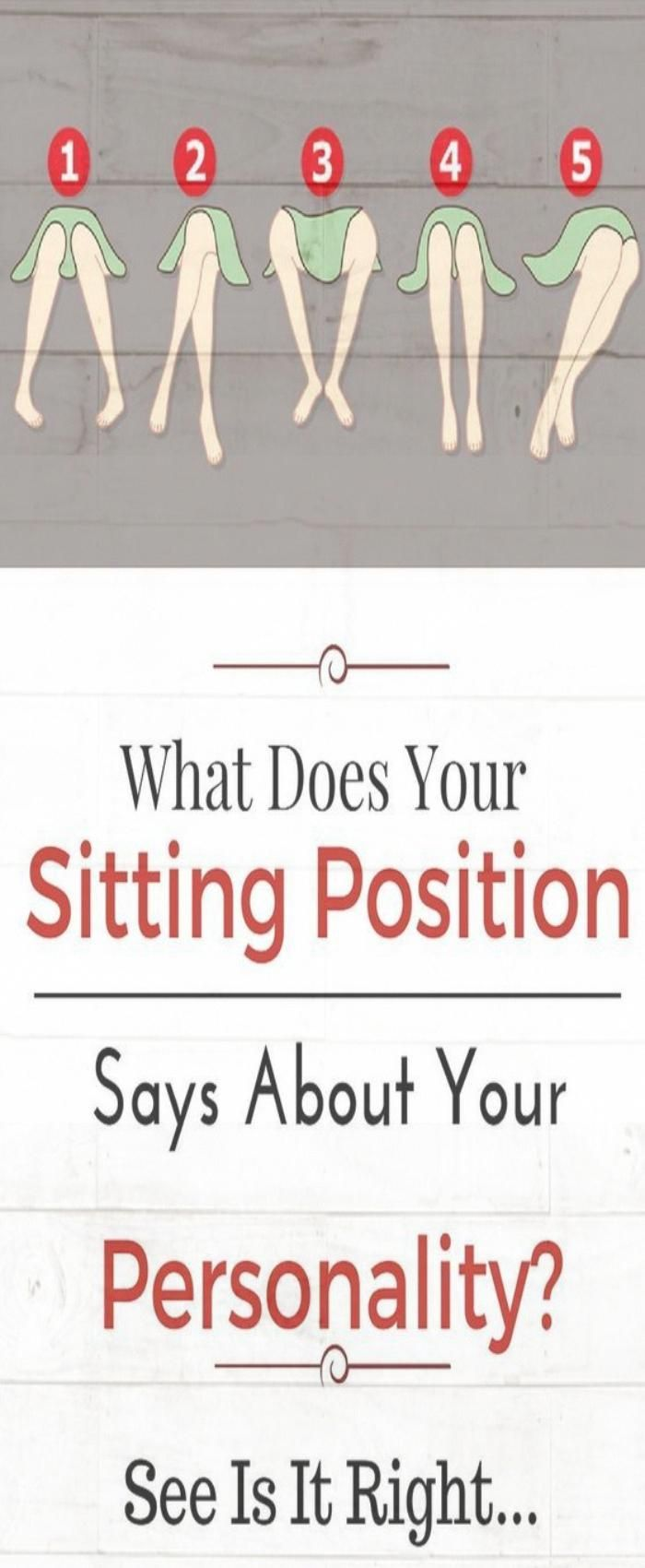 This Is What Your Sitting Position Reveals About Your Personality #health #facts #sitting #position...