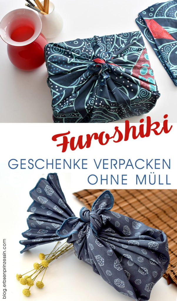 Furoshiki: Geschenke schön und nachhaltig verpacken - mit Stoffen von Spoonflower - Erbsenprinzessin Blog