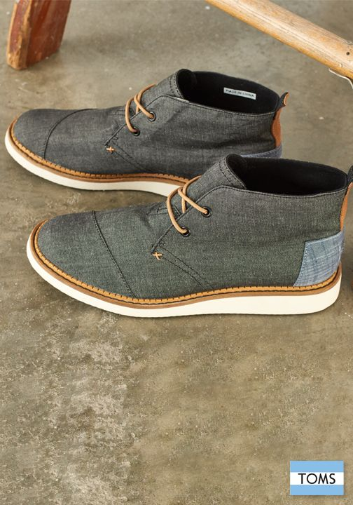 Black Chambray Men's Mateo Chukka Boots | Running shoes, Pandora ...