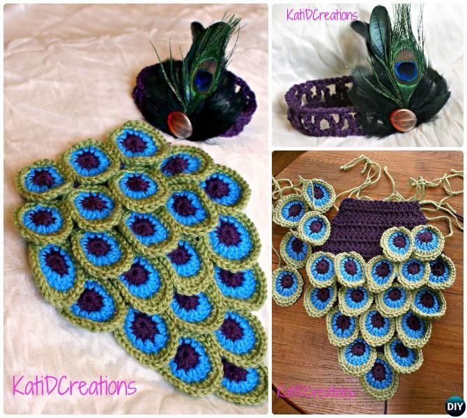 Crochet #Baby Peacock Feather Baby Cocoon Photo Prop-10 Crochet ...